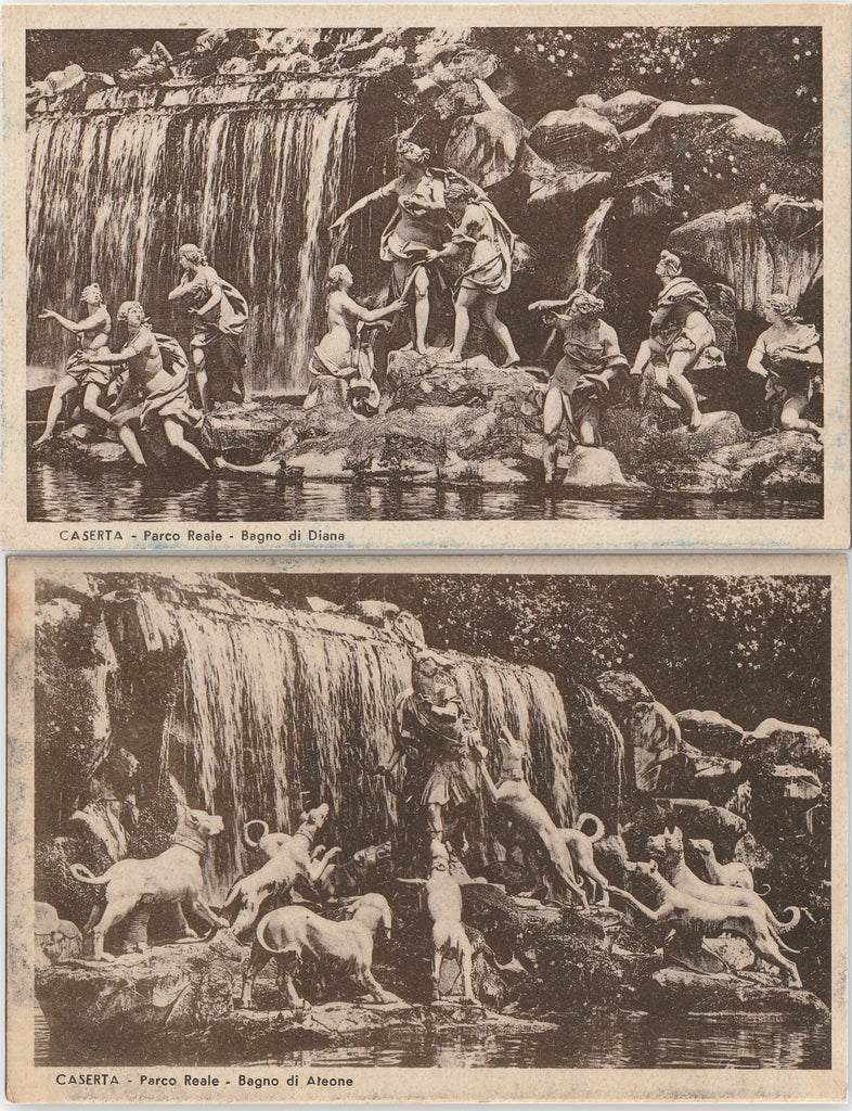 Caserta Royal Castle Park Waterfall Postcards