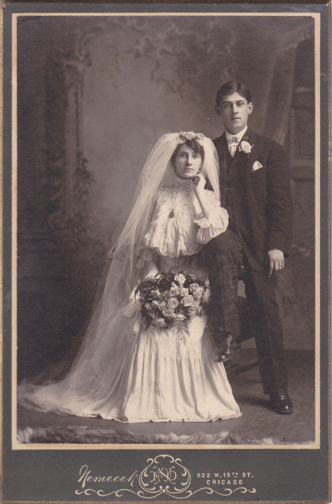 Victorian Wedding Portrait Chicago