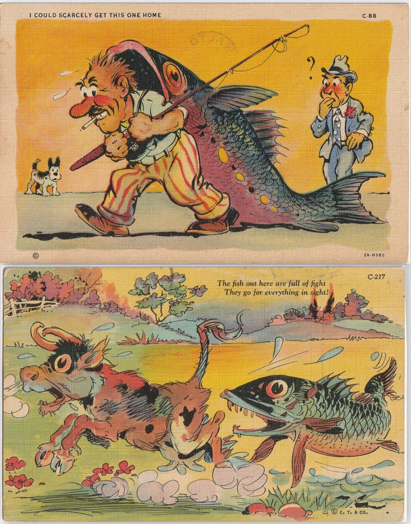 Big Fish Comic Postcard SET