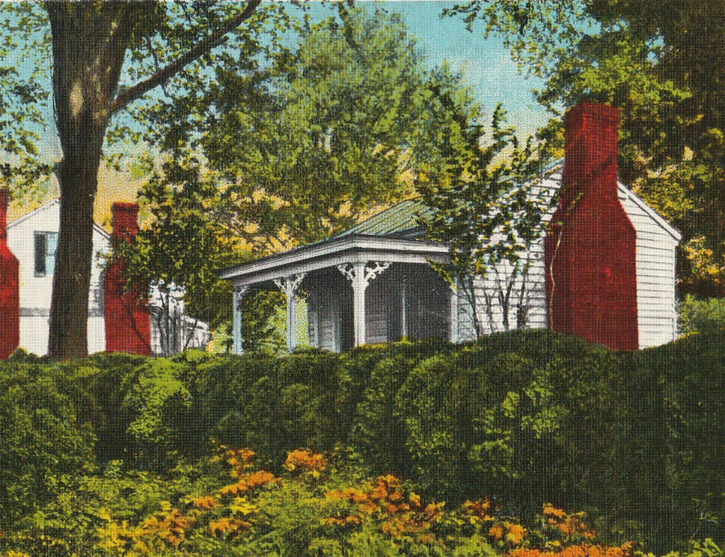Birthplace of Helen Keller Tuscumbia AL Vintage Postcard Close Up