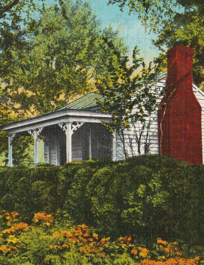 Birthplace of Helen Keller Tuscumbia AL Vintage Postcard Close Up 2