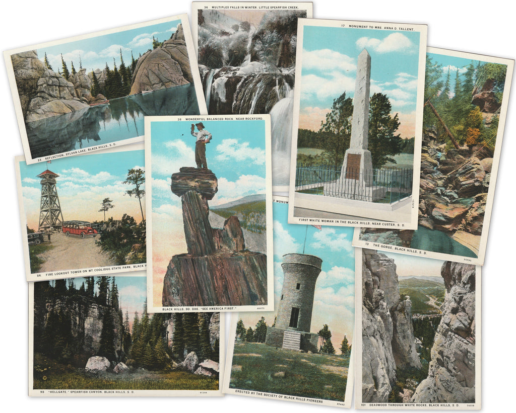 Vintage Black Hills South Dakota Postcards 1920s