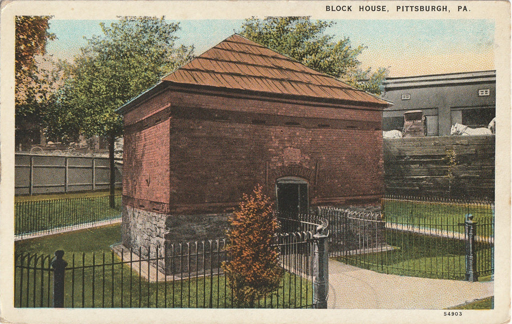 Block House Pittsburgh PA Antique Postcard