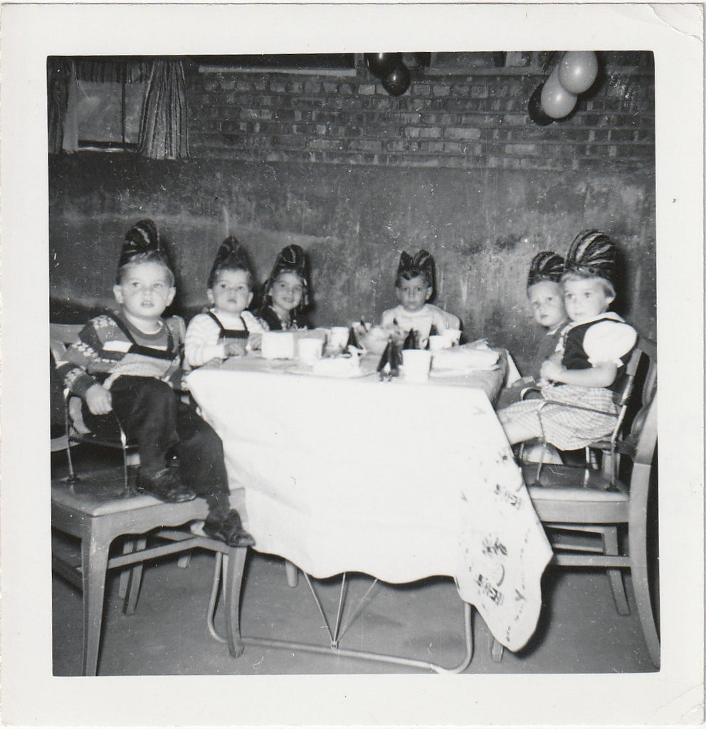 Bobby's Birthday Party Photo c. 1950s