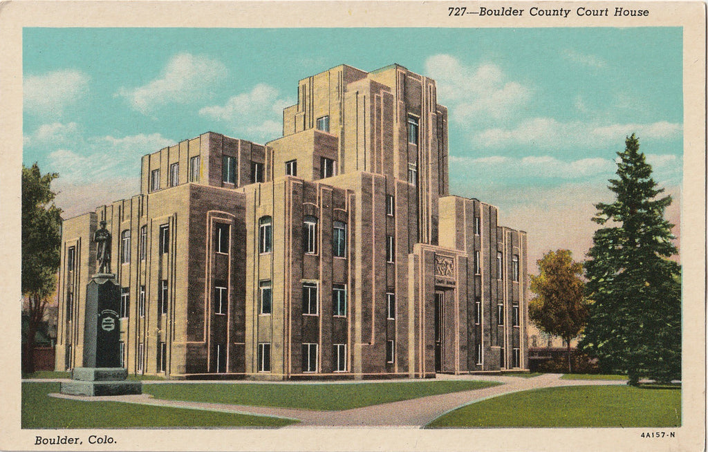 Boulder County Court House Boulder CO Postcard