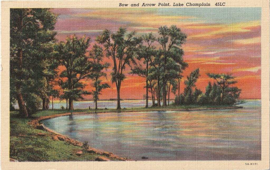 Bow and Arrow Point Lake Champlain Postcard