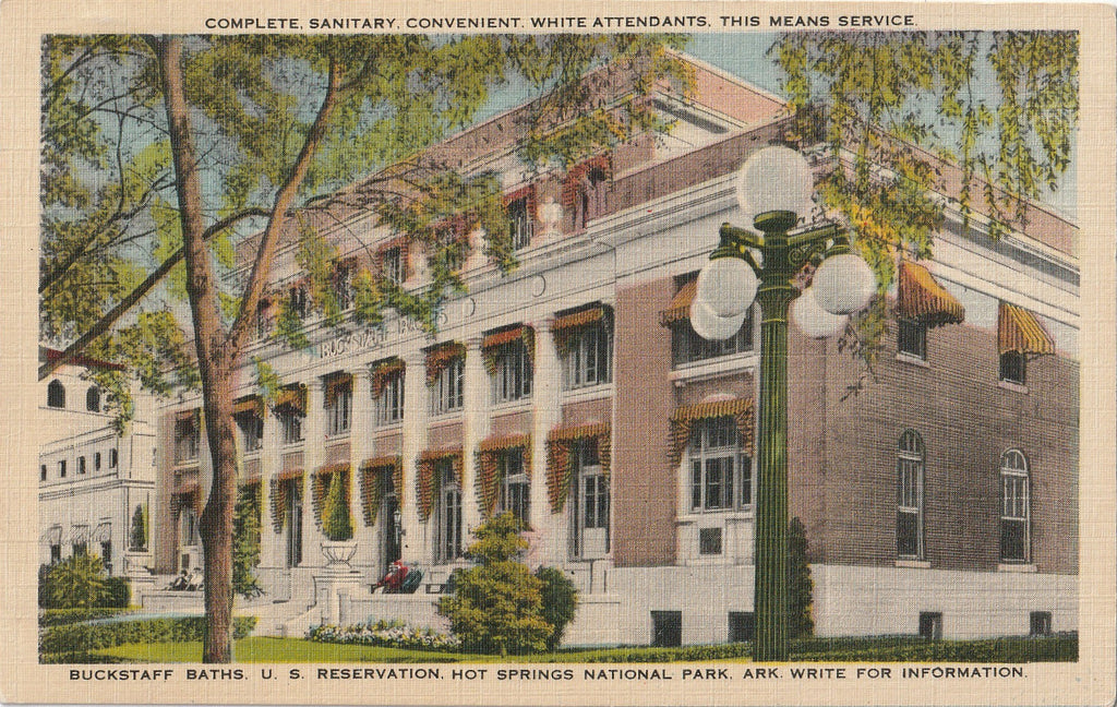Buckstaff Baths Hot Springs National Park Postcard