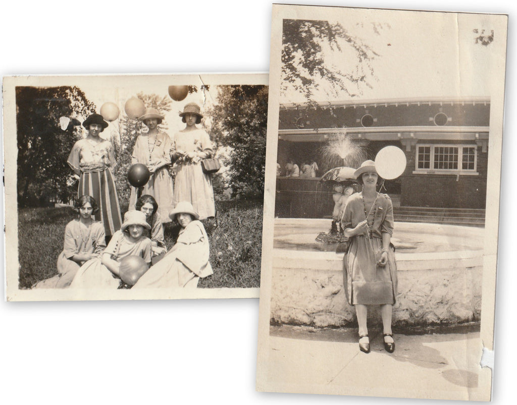 Bunch of Balloons 1920s Snapshots