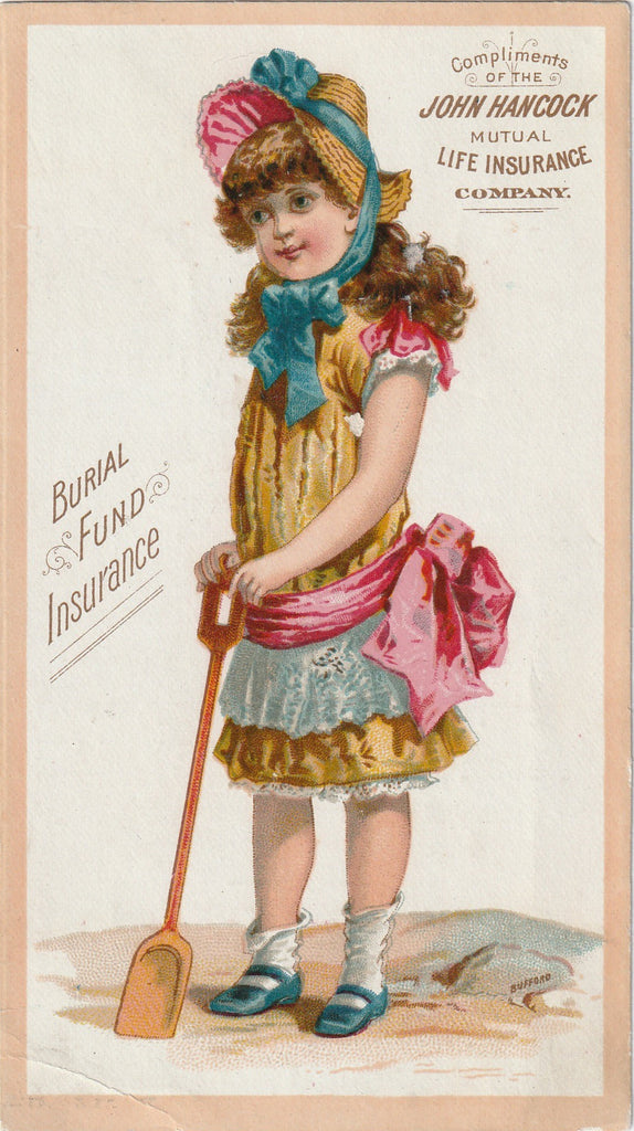 Burial Fund Life Insurance Trade Card