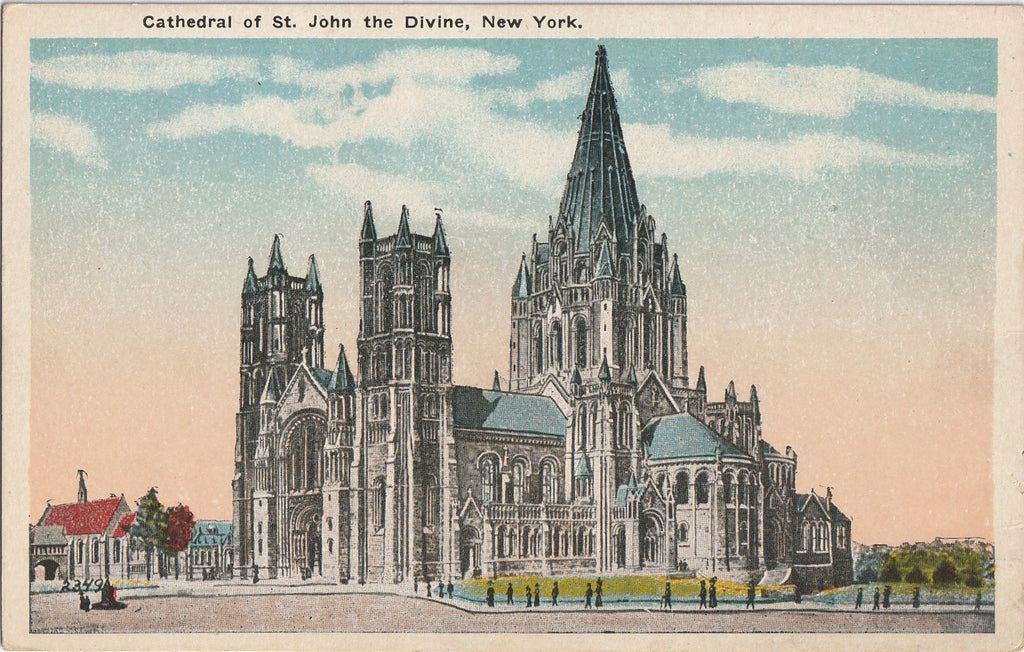 Cathedral of St. John the Divine New York Postcard