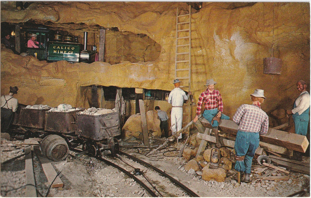 Calico Mine Knott's Berry Farm and Ghost Town Buena Park CA Postcard