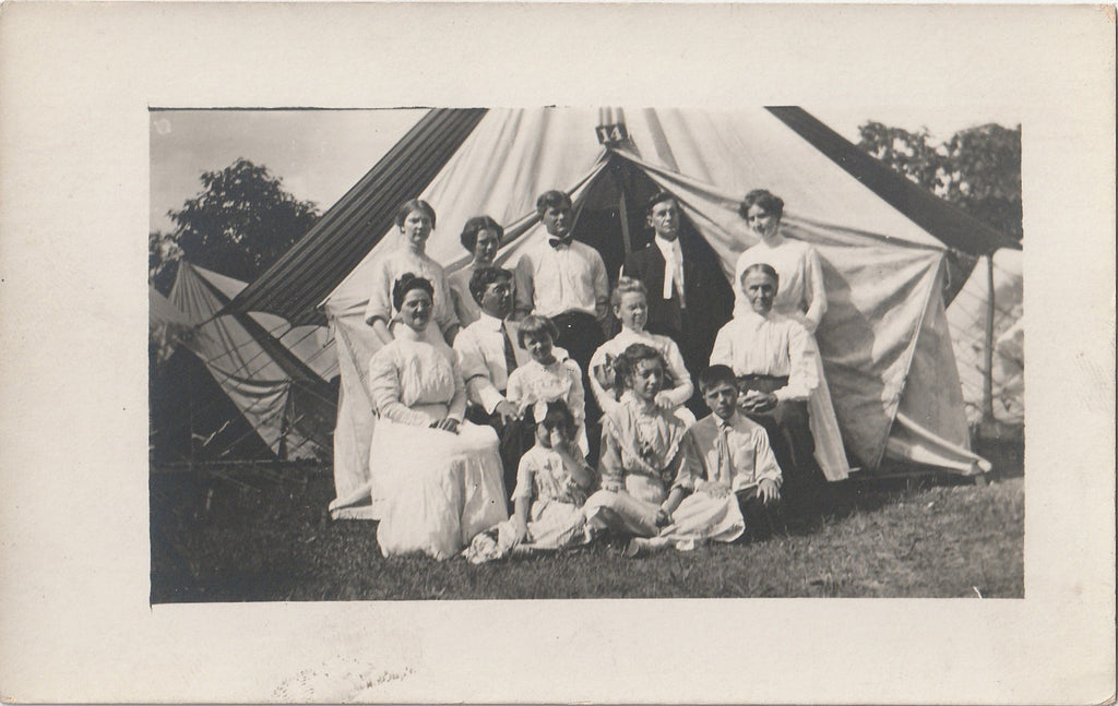 Canvas Tent Camping RPPC