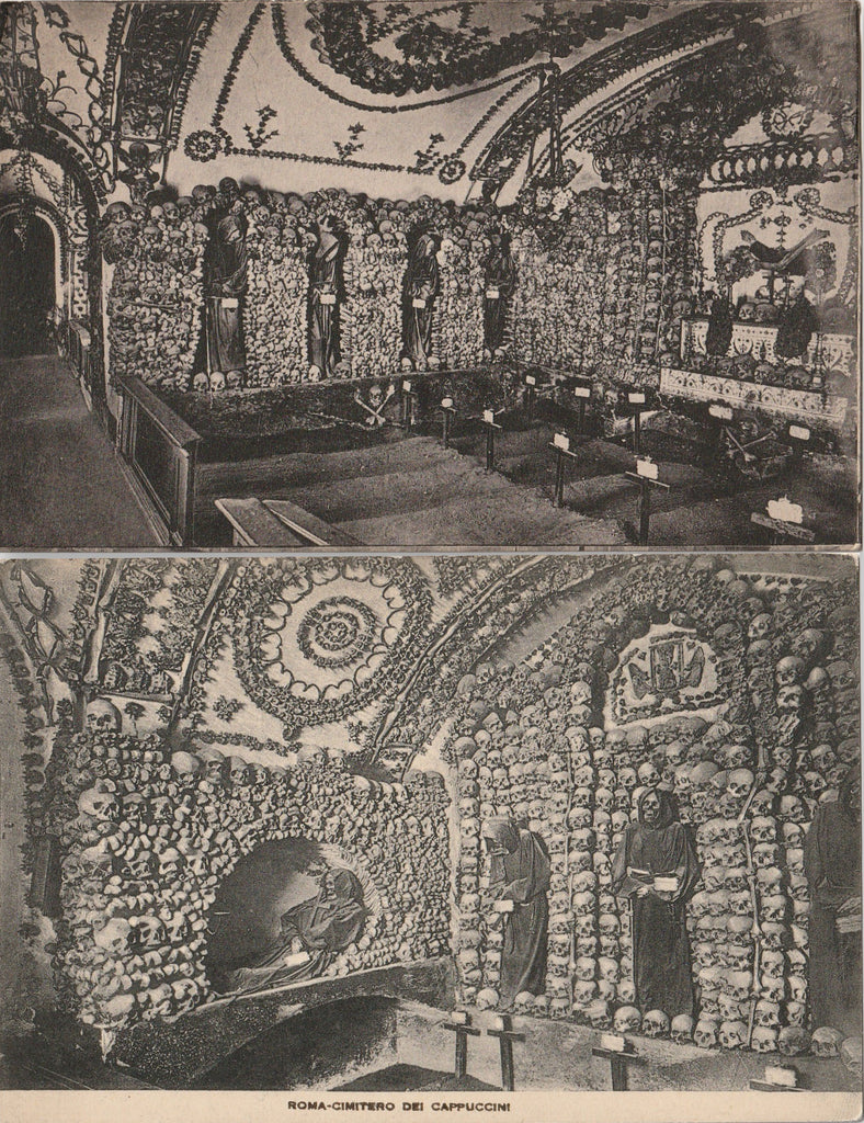 Capuchin Convent Ossuary Antique Postcard Set