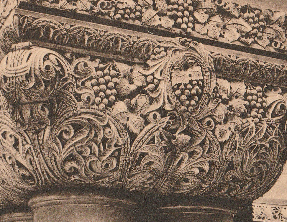 Carving on Staircase Capitol Building Albany New York Antique Postcard Close Up 2