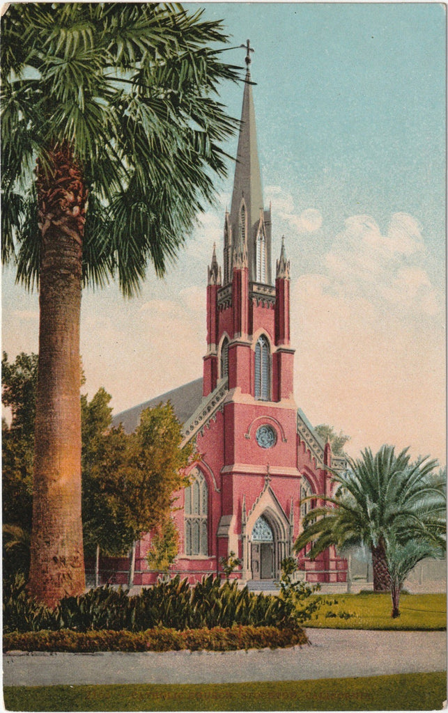 Catholic Church Stockton California Postcard