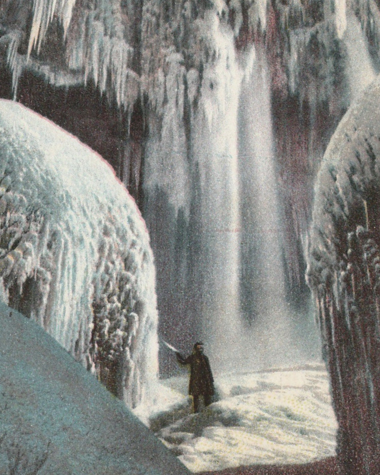 Cave Of The Winds Niagara In Winter Postcard 1910s Ephemera Obscura Collection