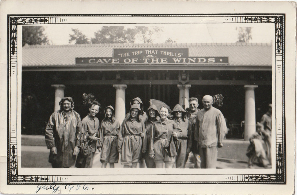 Cave of the Winds Niagara Falls 1936 Vintage Photo