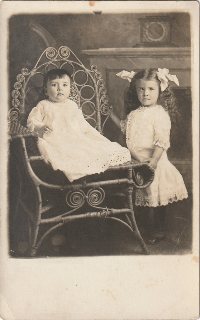 Edwardian Children's First Portrait  RPPC
