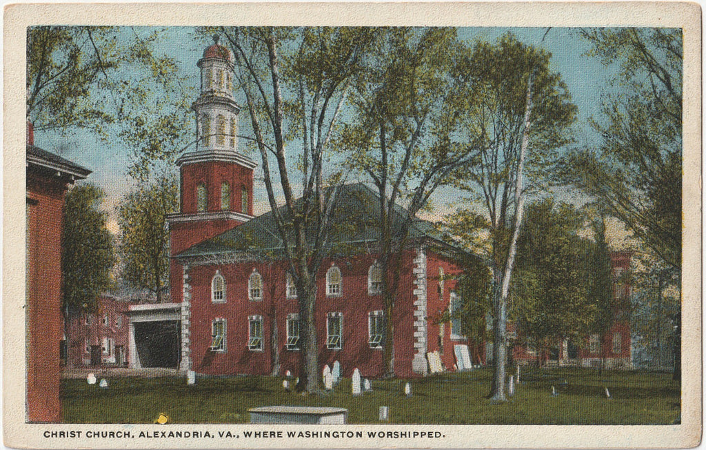 Christ Church Where Washington Worshiped - Alexandria, VA - Postcard, c. 1920s
