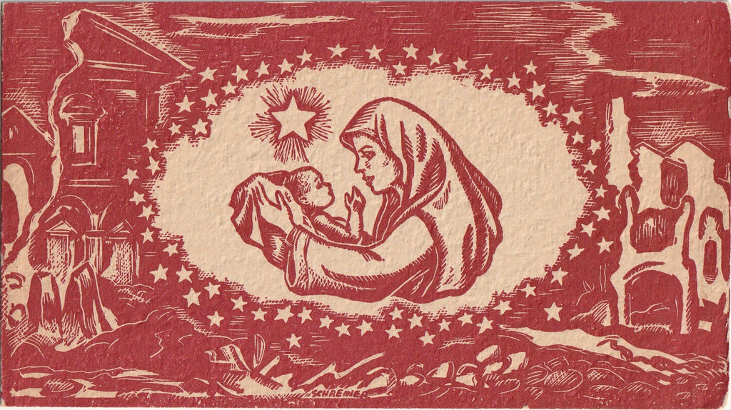 Christmas Meditation By Dr. T. C. Chao - Mary's Song By Benjamin Caulfield - Card, c. 1940s