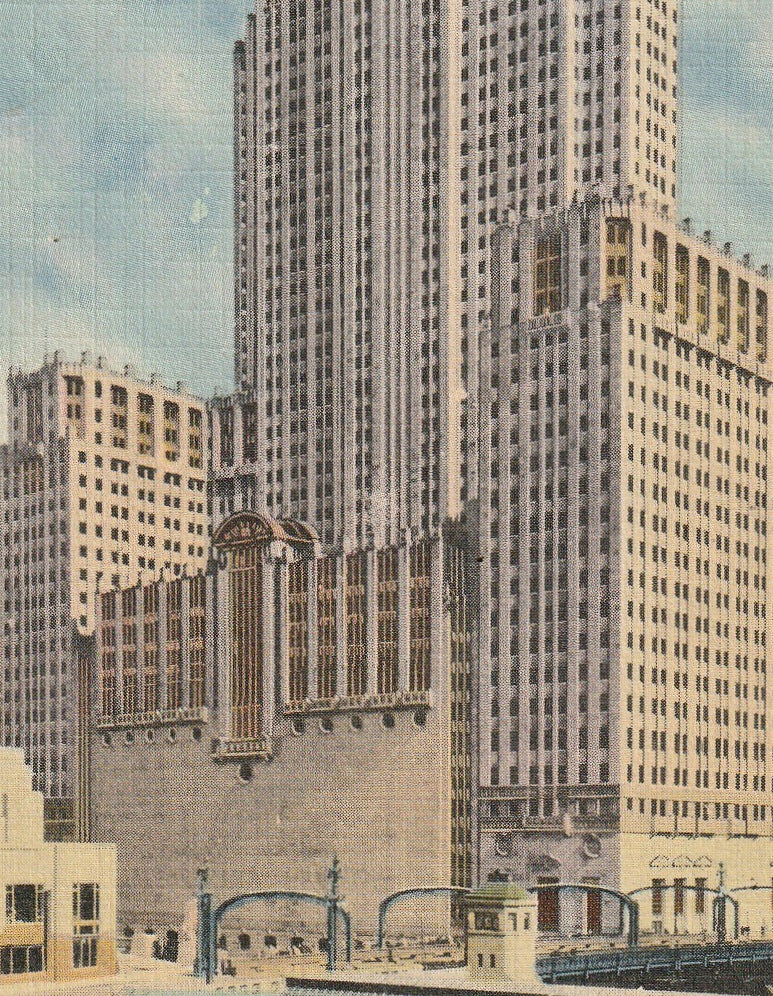 Civic Opera Building Chicago Postcard Close Up 2