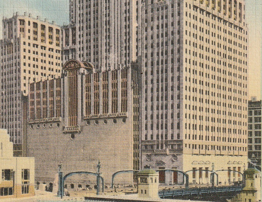 Civic Opera Building Chicago Postcard Close Up 3