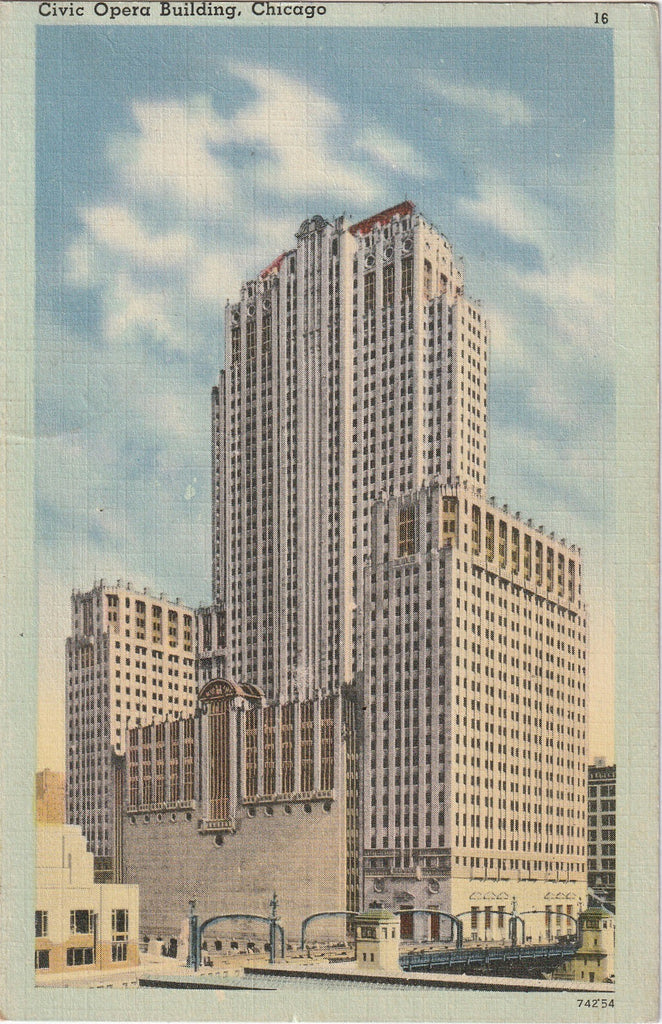 Civic Opera Building Chicago Postcard