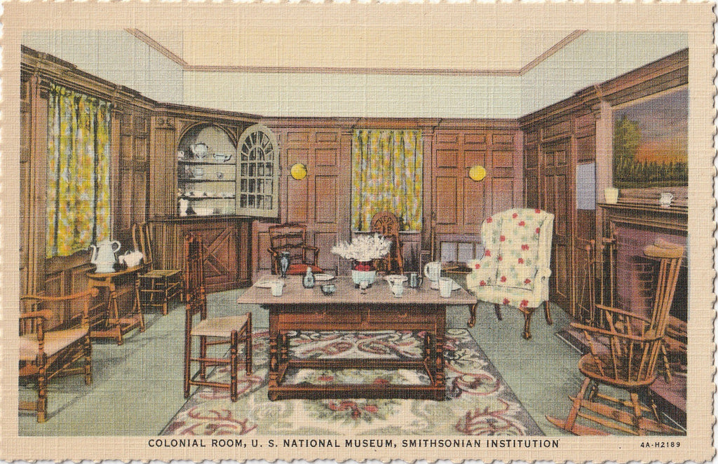Colonial Room Smithonian Institution Postcard