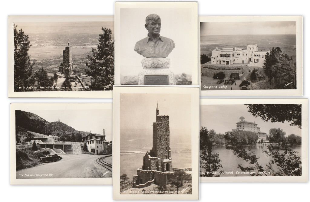 Colorado Springs, CO - SET of 6 - Photos, c. 1930s