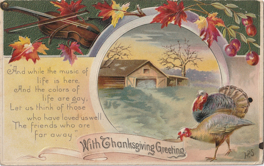 Music of Life Colors Gay Thanksgiving Postcard