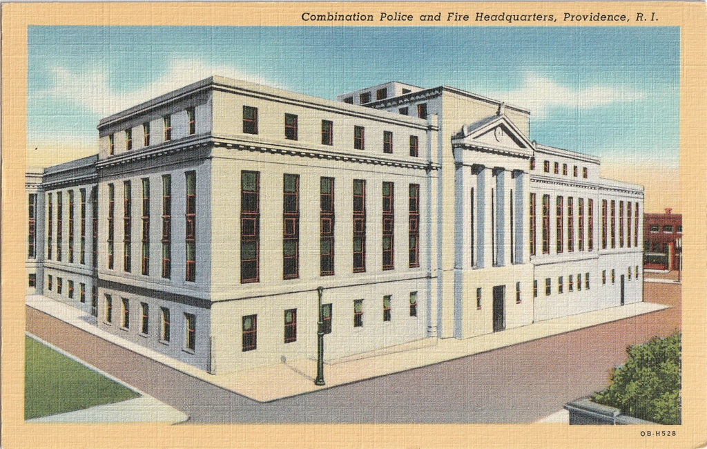 Combination Police Fire Headquarters Providence Rhode Island Postcard
