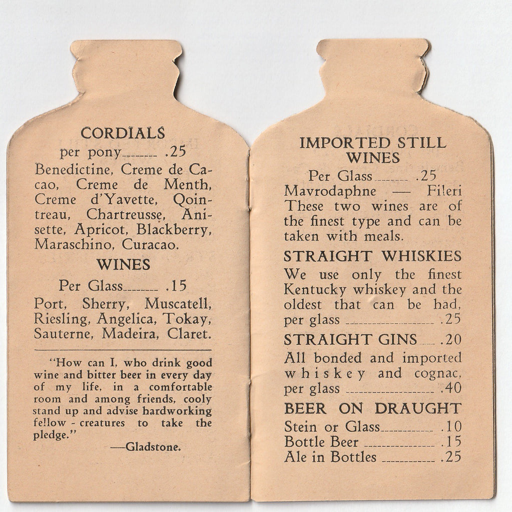 Compliments of Hacienda Cafe and Beer Garden - Chicago, IL - Booklet, c. 1930s Inside 4