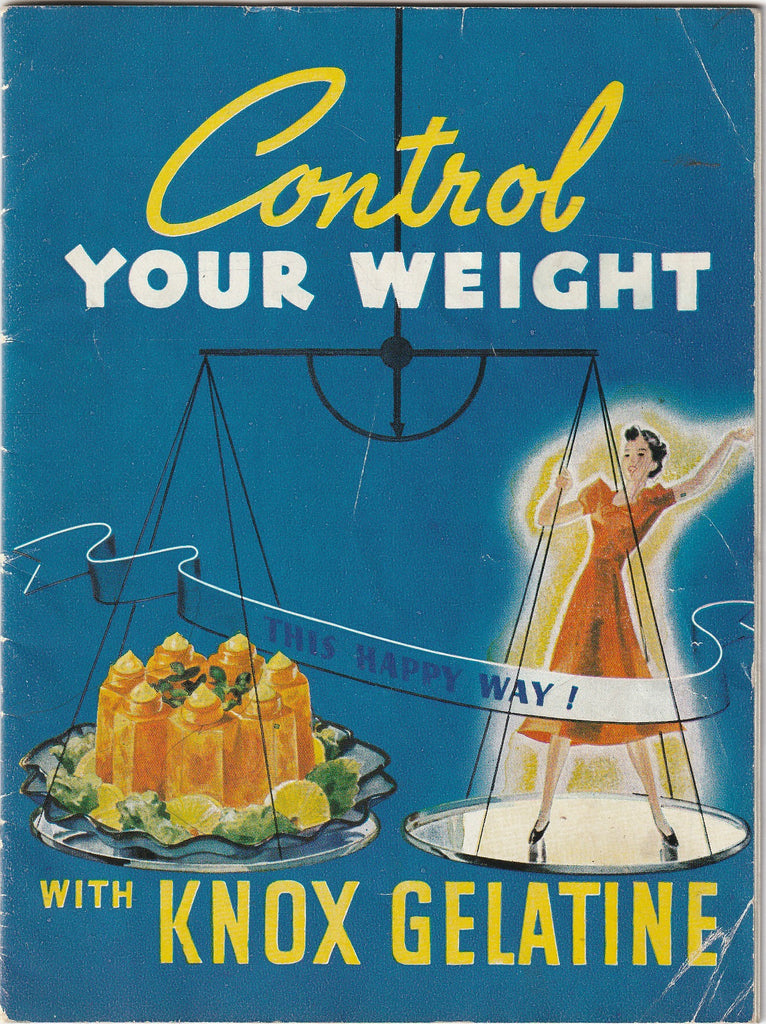 Control Your Weight This Happy Way With Knox Gelatine Booklet 1932