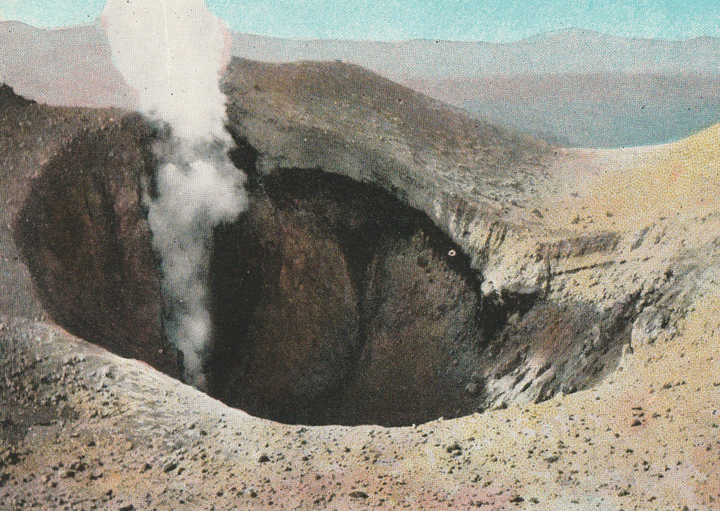 Crater Lassen Volcanic National Park California Postcard Close Up