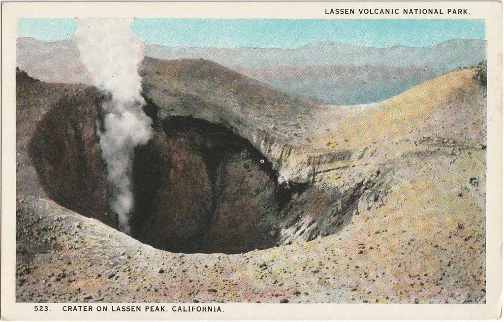 Crater Lassen Volcanic National Park California Postcard