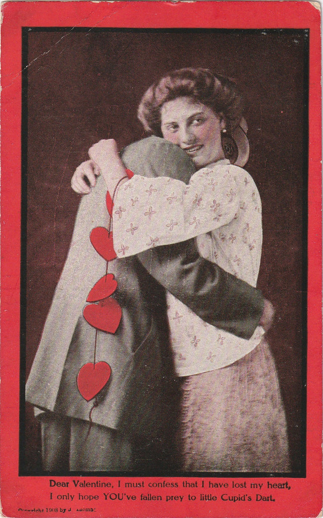 Dear Valentine I Must Confess Antique Postcard