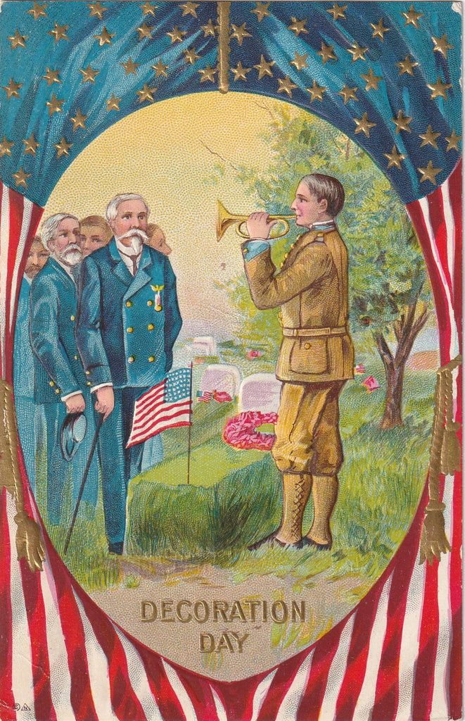 Decoration Day Civil War Veterans Postcard