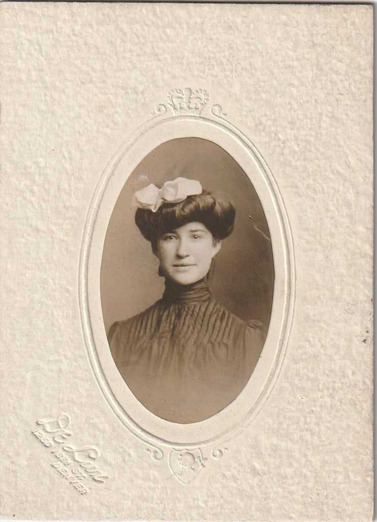 Gibson Hairstyle 1890s CDV Photo