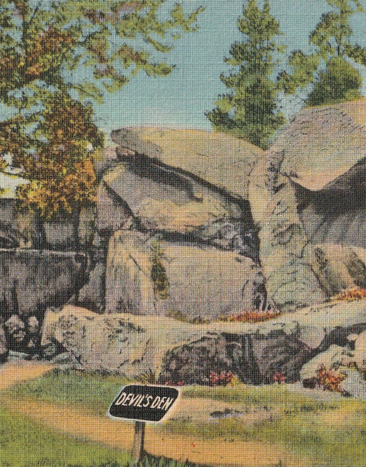 Devil's Den Gettysburg Vintage Postcard Close Up