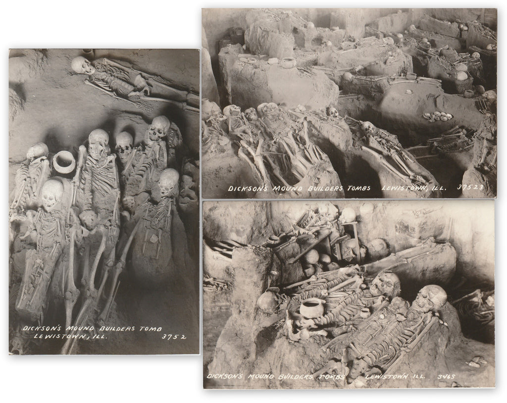 Dickson's Mound Builders Tombs RPPC Set
