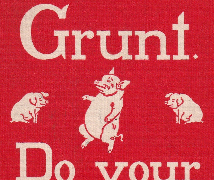 Don't Grunt Do Your Stunt Sheahan Motto Postcard Close Up 2
