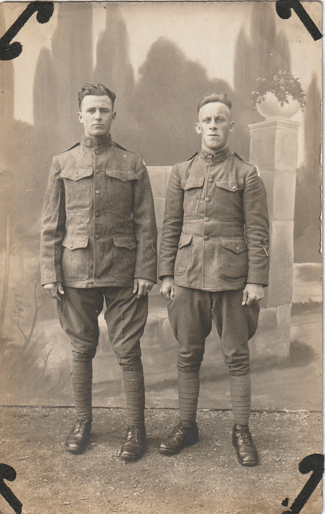 Double Doughboys RPPC WWI