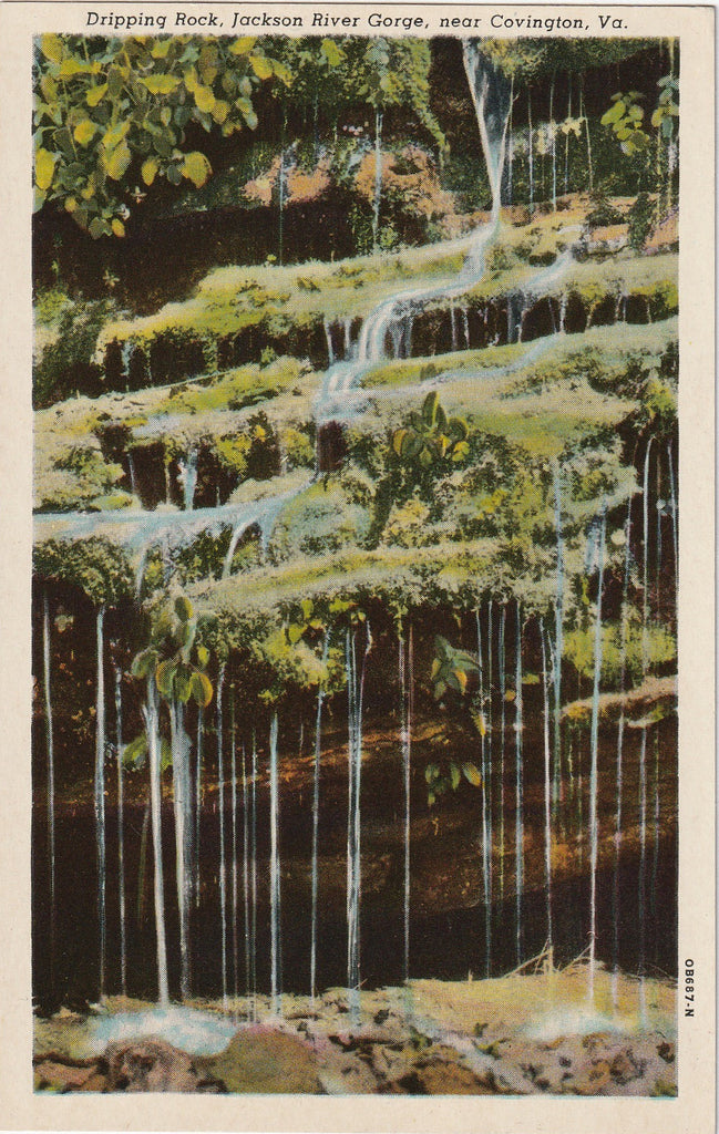 Dripping Rock Jackson River Gorge Covington Virginia Postcard