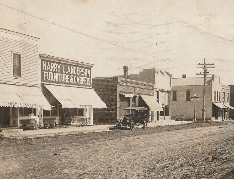 East Side, Main St. - Plankinton, South Dakota - RPPC, c. 1918