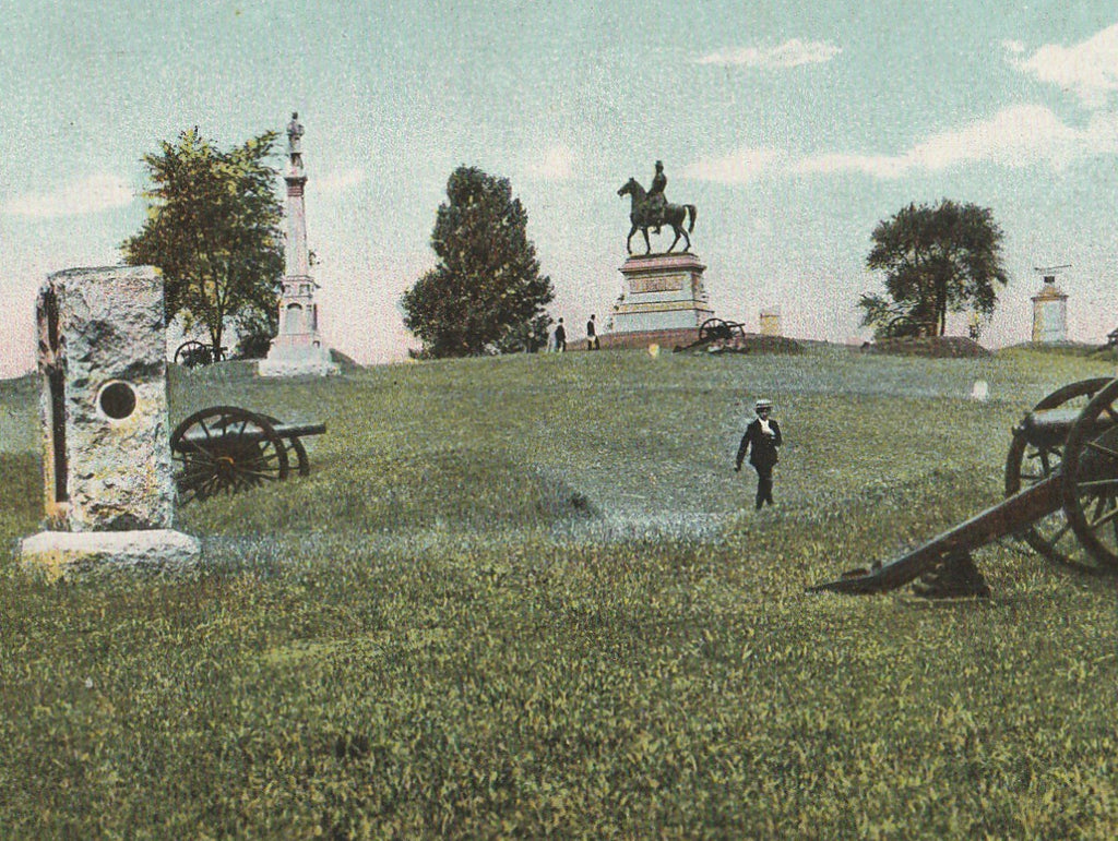 East Seminary Hill Gettysburg Postcard Close Up