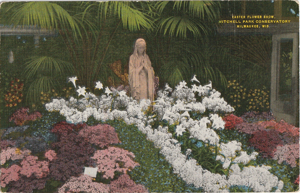 Easter Flower Show Mitchell Park Conservatory Milwaukee Wisconsin Postcard