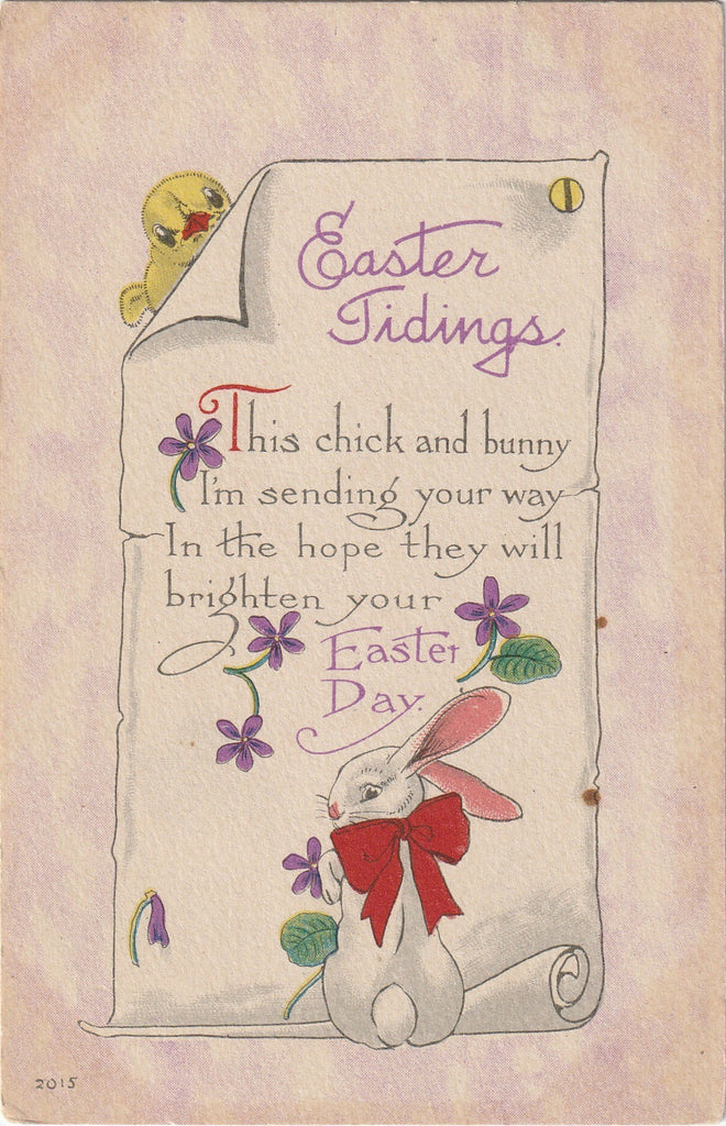 Easter Tidings Antique Postcard