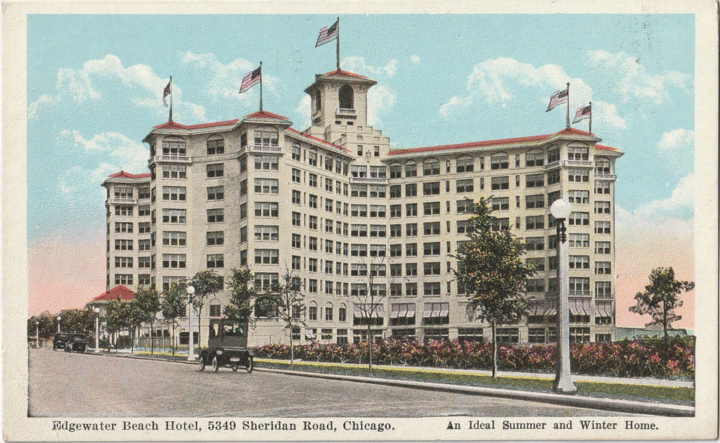 Edgewater Beach Hotel Chicago Postcard