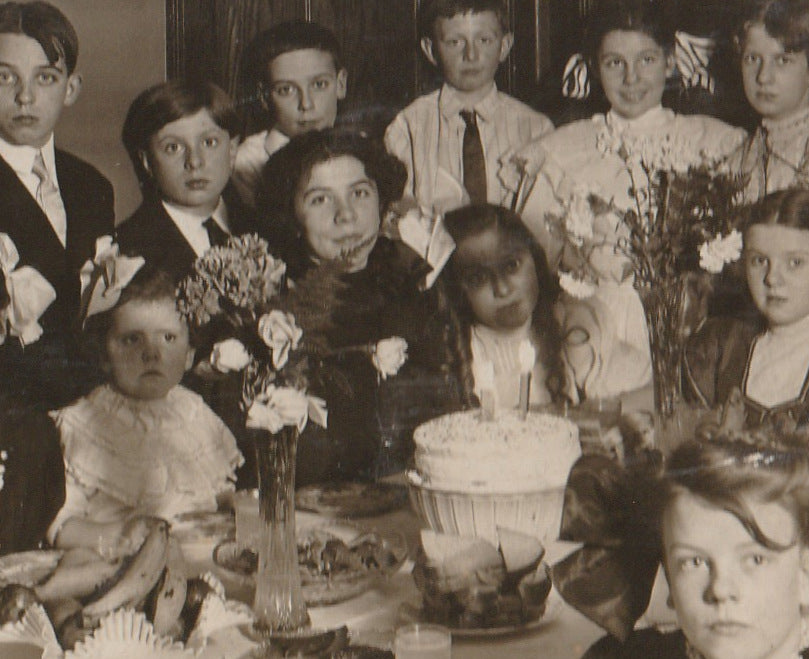 Edwardian Birthday Party Cabinet Photo Close Up 5