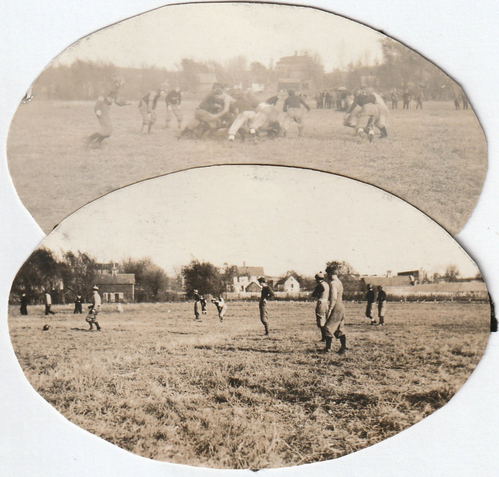 Edwardian Football Game Antique Photos